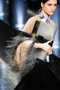Prada Grey/Black Oversized Clutch Bag - Spring 2017