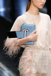Prada Light Blue/Black/Pink Mini Clutch Bag - Spring 2017