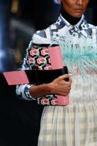 Prada Pink/Black Floral Printed Clutch Bag - Spring 2017