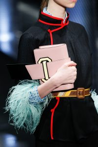 Prada Pink/Black Mini Clutch Bag - Spring 2017