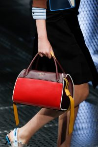 Prada Red/Burgundy/Yellow Top Handle Bag - Spring 2017