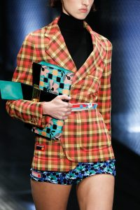 Prada Turquoise Multicolor Floral Printed Clutch Bag - Spring 2017
