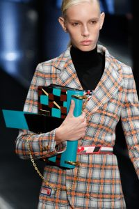 Prada Turquoise Multicolor Printed Flap Bag - Spring 2017