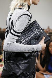 Proenza Schouler Black Crocodile Oversized Clutch Bag