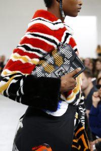 Proenza Schouler Black Striped Hava Chain Bag