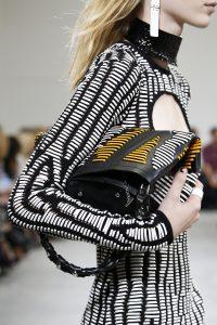 Proenza Schouler Black Striped Hex Bucket Bag 2