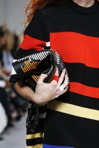 Proenza Schouler Black Striped Hex Bucket Bag
