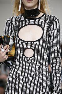 Proenza Schouler Black Striped Hex Bucket Bag 3