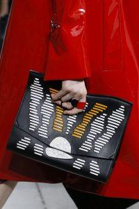 Proenza Schouler Black Striped Oversized Clutch Bag