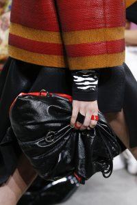 Proenza Schouler Black/Red Drawstring Bag