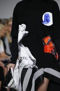 Proenza Schouler Black/White Drawstring Bag