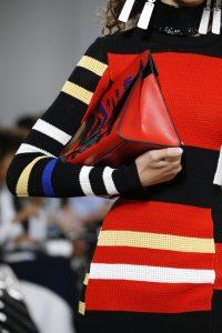Proenza Schouler Red Striped Oversized Clutch Bag