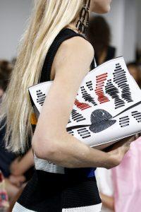Proenza Schouler White Striped Oversized Clutch Bag