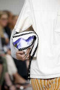 Proenza Schouler White Whipstitch with Print Hex Bucket Bag