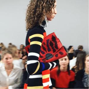 Proenza Schouler Red Striped Oversized Clutch Bag 2