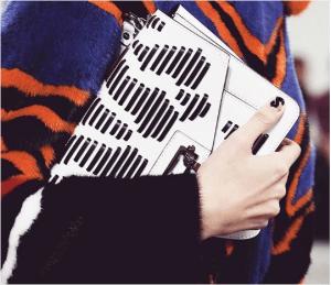 Proenza Schouler White Striped Hava Chain Bag 2