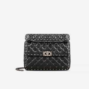 Valentino Black Rockstud Spike Medium Bag