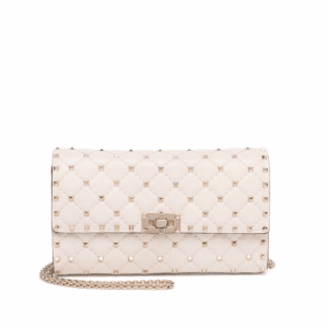 Valentino Ivory Rockstud Spike Mini Bag