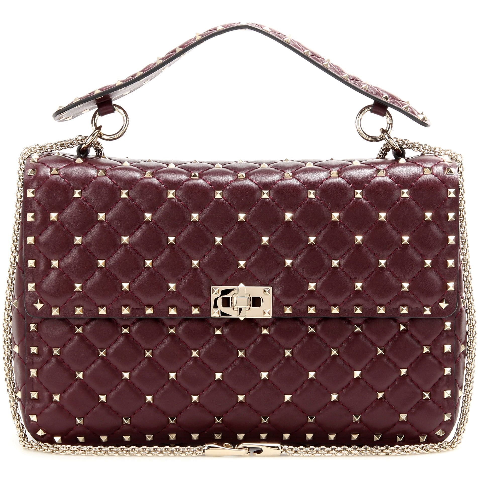valentino rockstud spike bag collection spotted fashion