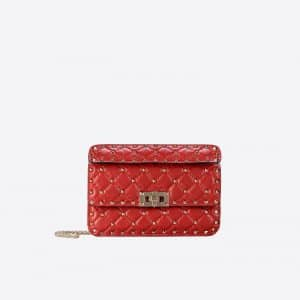 Valentino Red Rockstud Spike Small Bag