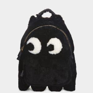 Anya Hindmarch Black Shearling Ghost Mini Backpack Bag