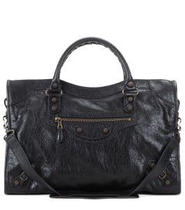 Balenciaga Black Giant 12 Gunmetal City Bag
