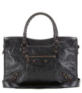 Balenciaga Black Giant 12 Gunmetal City S Bag