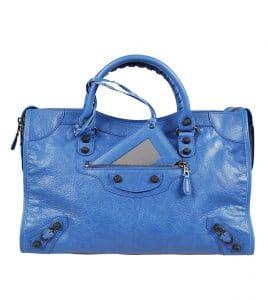 Balenciaga Blue Giant 12 Gunmetal City Bag