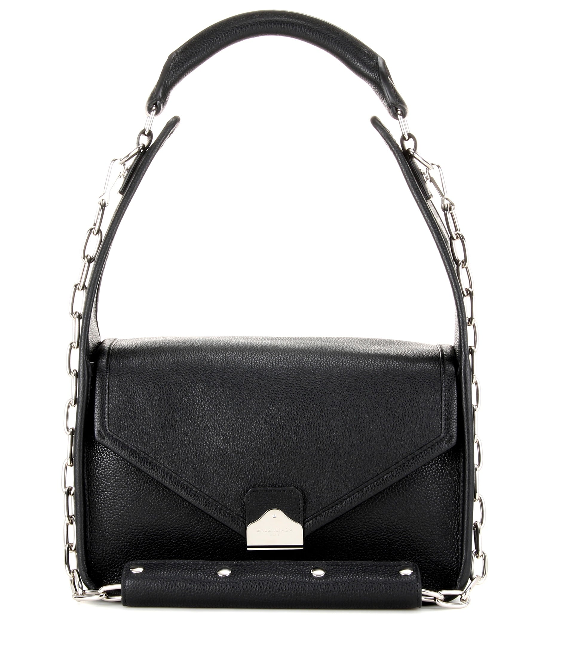 Balenciaga Noir Tool Shoulder Flap Bag