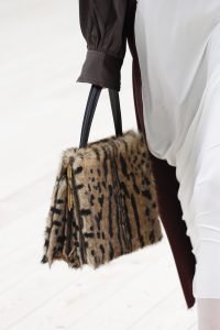 Celine Beige/Black Fur Top Handle Bag 2 - Spring 2017