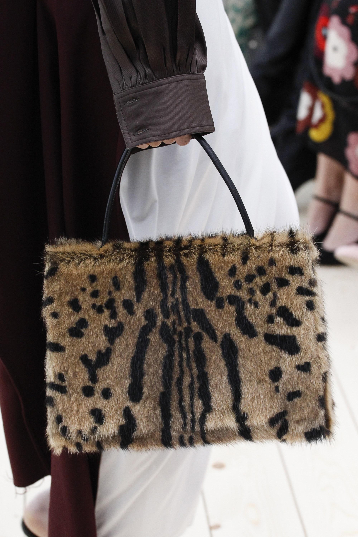 Celine Beige Black Fur Top Handle Bag Spring 2017