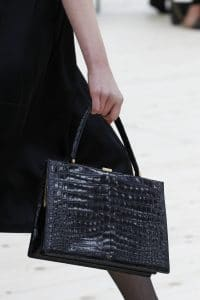 Celine Black Crocodile Top Handle Bag - Spring 2017