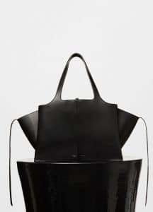 Celine Black Tri-Fold Medium Shoulder Bag