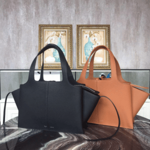 Celine Black and Camel Tri-Fold Medium Shoulder Bags