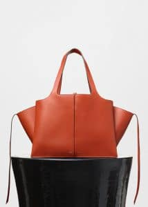 Celine Brick Tri-Fold Medium Shoulder Bag