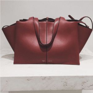 Celine Burgundy Tri-Fold Medium Shoulder Bag 2