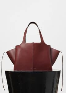 Celine Burgundy Tri-Fold Medium Shoulder Bag