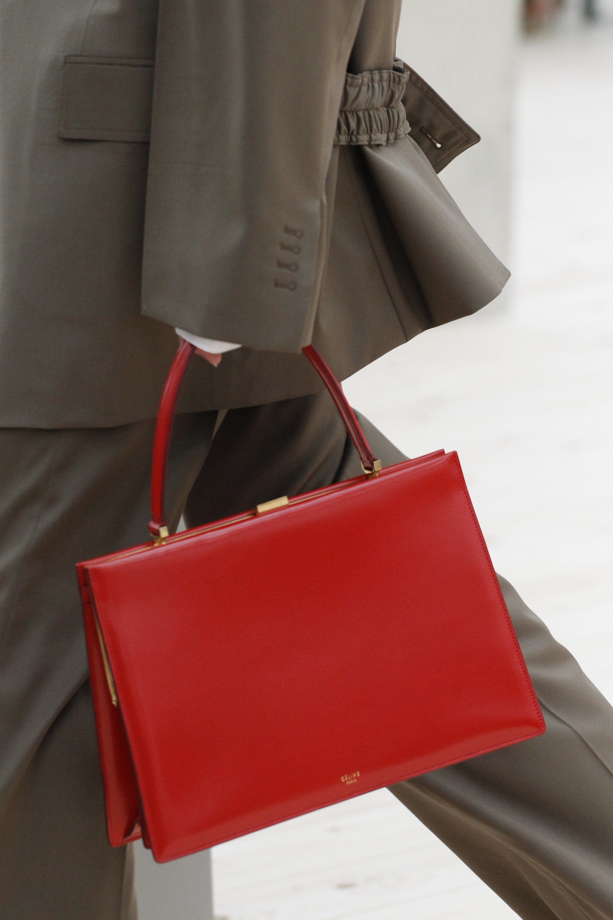 Celine Red Top Handle Bag Spring 2017