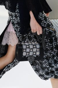 Chanel Black Floral Embellished Boy Bag - Spring 2017