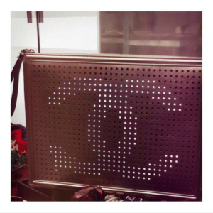 Chanel Black Perforated Clutch Bag 3 - Spring 2017