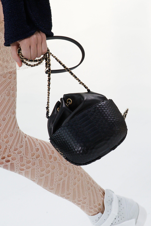 chanel bags 2017 black. chanel black python small drawstring bag - spring 2017 bags l