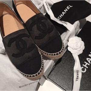 Chanel Black Satin Espadrilles 2