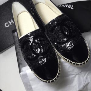 Chanel Black Sequin Espadrilles