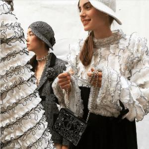 Chanel Black/Silver Minaudiere Bag - Spring 2017