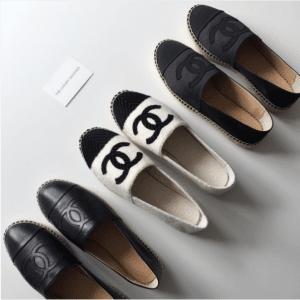 Chanel Black/White/Gray Espadrilles