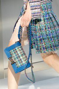 Chanel Blue Multicolor Boy Bag - Spring 2017