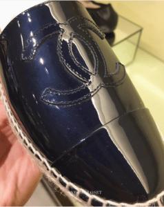 Chanel Blue Patent Espadrilles
