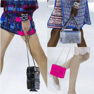 Chanel Robot Minaudiere / Silver Boy / Fuchsia Shoulder Bags - Spring 2017