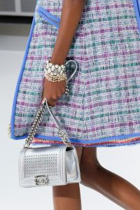 Chanel Silver Perforated Boy Bag - Spring 2017