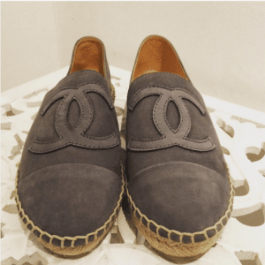 Chanel Taupe Suede Espadrilles